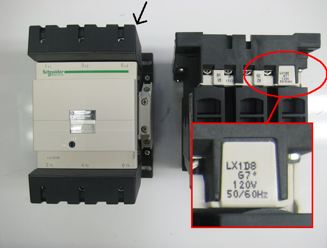 Finding Schneider Electric LC1D115 and LC1D150 Coil Voltages