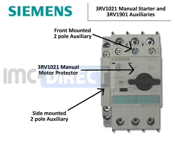 Siemens 3rv1021 Manual Motor Starters
