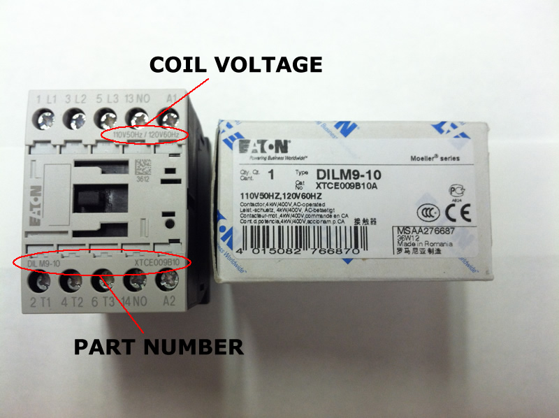 XTCE012_coil_lg xtce015b10 eaton contactor rated at 15 amps with an ac or dc coil