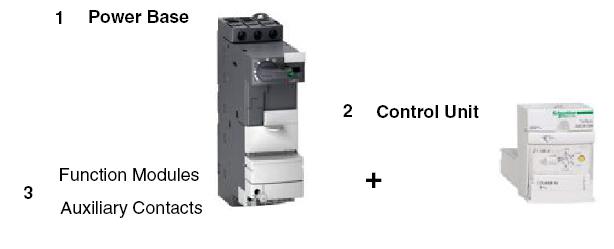 Schneider electric lub32 motor starter power base for Schneider motor starter selection guide