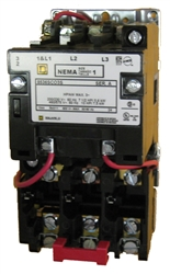 Square d 8536sco3v01s size 1 nema rated starter with a 24 for Manual motor starter with overload protection